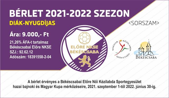 Bérlet 2021/2022